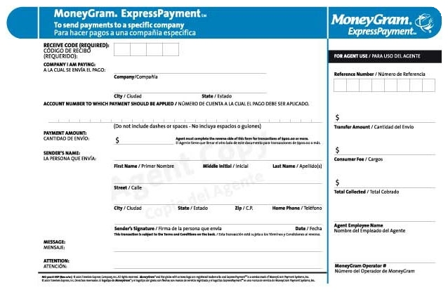 moneygram express payment form Pay by Moneygram - Allegro Escrow Services