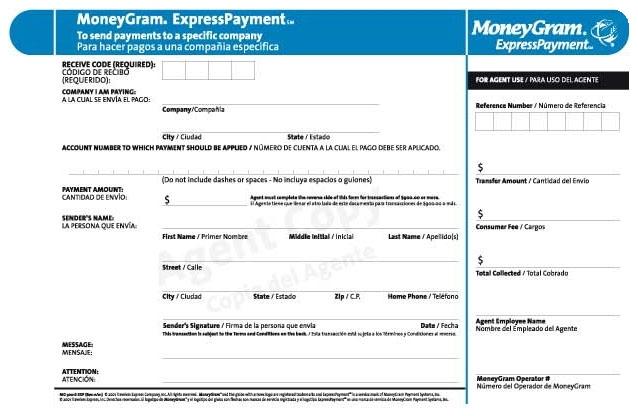 Pay by MoneyGram | Evergreen Note Servicing